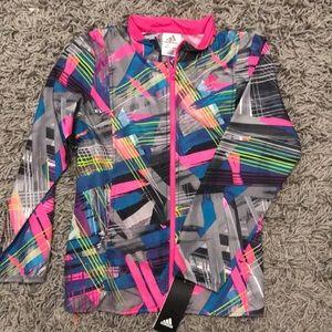 Adidas Girls Zip-up Multicolor Jacket Sz Small NWT
